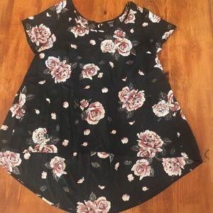 Floral Georgette Hi Lo Blouse size 1